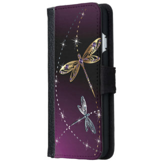 Glamour Diamond Butterfly iPhone 6 Wallet Case