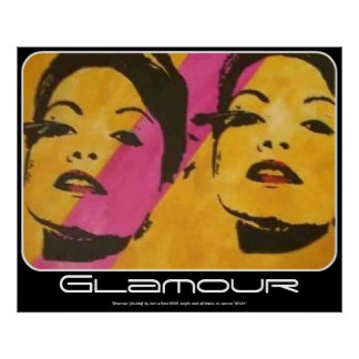 Glamour (double) painting on a Poster