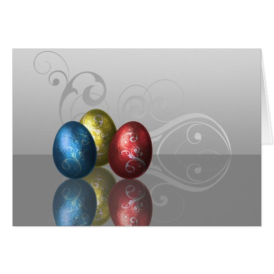 Glamour Easter Eggs - Greeting Card