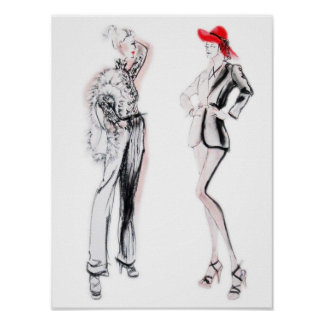 Glamour Fashion Illustration Poster