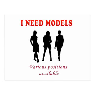 Glamour female models postcard