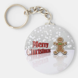 Glamour Gingerbread Christmas Man - Keychain