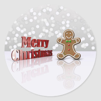 Glamour Gingerbread Christmas Man - Sticker