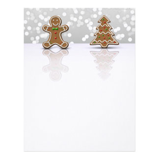 Glamour Gingerbread Man and Tree - Letterhead