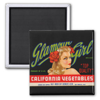 Glamour Girl 2 Inch Square Magnet