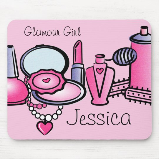 Glamour Girl Birthday Mouse Pad