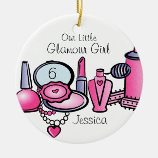 Glamour Girl Birthday Personalized Ornament