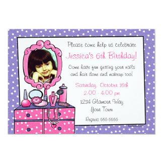 Glamour Girl Birthday Photo Party Invitation