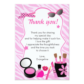 Glamour Girl Birthday Thank You Card Note