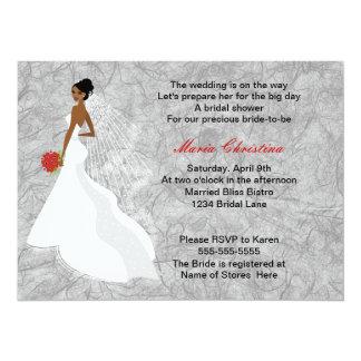 "Glamour Girl Bridal Shower Invitation 1 5.5"" X 7.5"" Invitation Card"