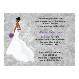 Glamour Girl Bridal Shower Invitation 1(cback)