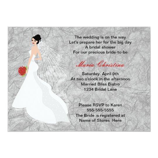 Glamour Girl Bridal Shower Invitation 3
