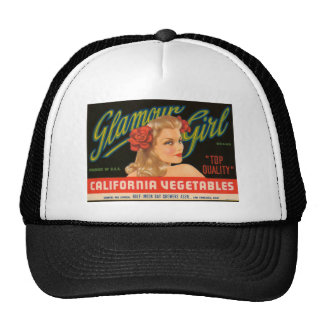 Glamour Girl California Vegetables Vintage Ad Trucker Hat