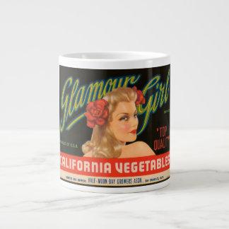 Glamour Girl California Vegetables Vintage Crate L Giant Coffee Mug