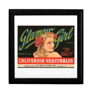 Glamour Girl California Vegetables Vintage Crate L Jewelry Box