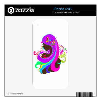 Glamour Girl Decal For iPhone 4
