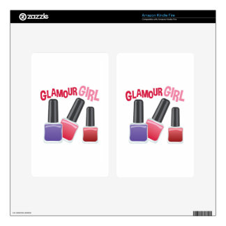 Glamour Girl Decals For Kindle Fire