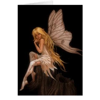 Glamour Girl Fairy Greeting Card
