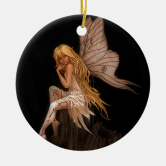 Glamour Girl Fairy Ceramic Ornament