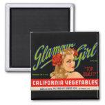 Glamour Girl Fridge Magnet