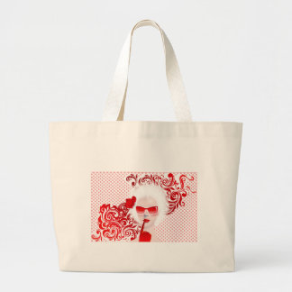 glamour girl in sunglass tote bag