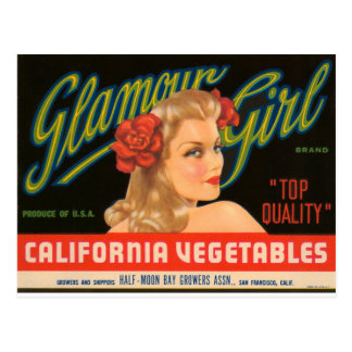 Glamour Girl Postcard