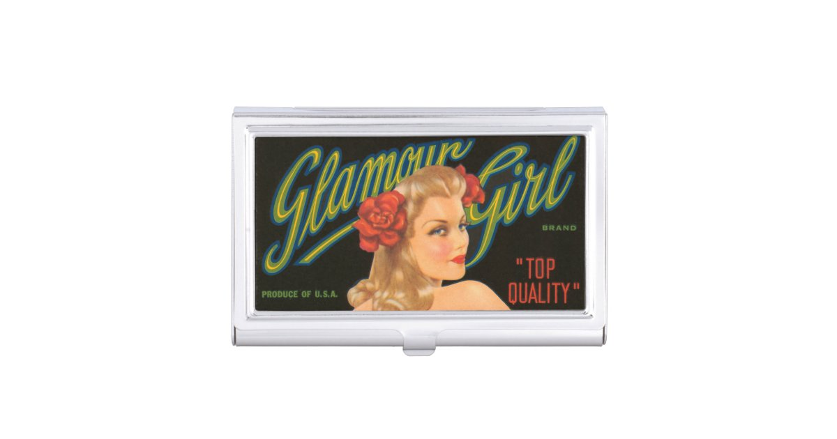 Glamour Girl Retro Vintage Pin Up California Business Card Holder ...