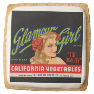 Glamour Girl Square Shortbread Cookie