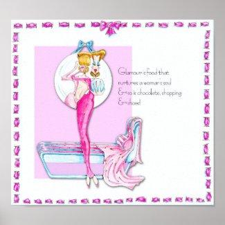 Glamour Girl Vanity Poster print