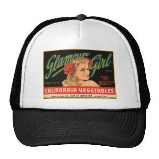 Glamour Girl Vegetables Crate Label Trucker Hat