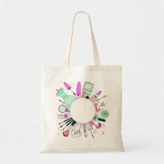 Glamour Girl Wreath Tote Bag