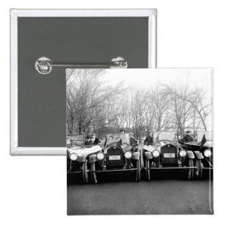 Glamour Girls & Classic Cars Vintage Photo Pinback Button