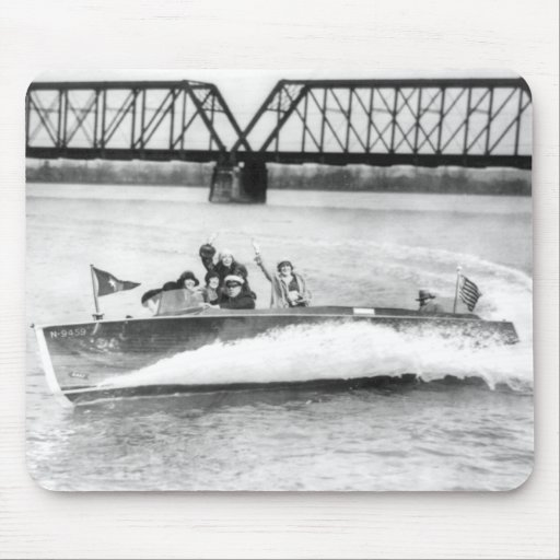 Glamour Girls in Speed Boat Mouse Pad