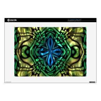 Glamour Gleam Gold Blue Green Mosaic Skin For Laptop