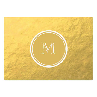 Glamour Gold Foil Background Monogram Large Business Cards (Pack Of 100)