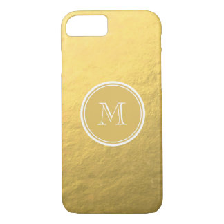 Glamour Gold Foil Background Monogram iPhone 7 Case