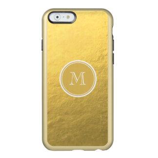 Glamour Gold Foil Background Monogram Incipio Feather® Shine iPhone 6 Case