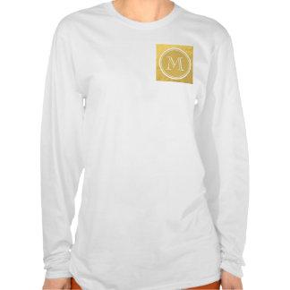 Glamour Gold Foil Background Monogram T-shirt