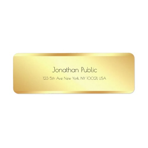 Glamour Gold Simple Template Modern Elegant Label