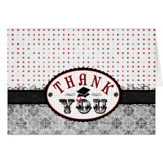Glamour Grad Thank You Note Card