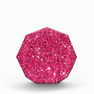 Glamour Hot Pink Glitter Award