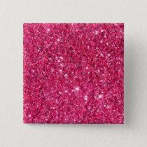 Glamour Hot Pink Glitter Button
