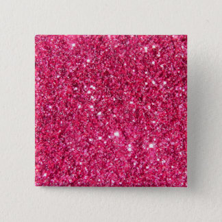 Glamour Hot Pink Glitter Button