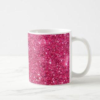 Glamour Hot Pink Glitter Coffee Mug