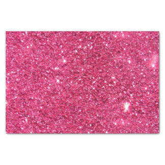 "Glamour Hot Pink Glitter 10"" X 15"" Tissue Paper"