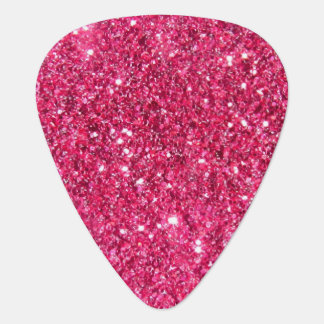 Glamour Hot Pink Glitter Guitar Pick