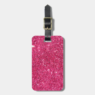 Glamour Hot Pink Glitter Travel Bag Tag