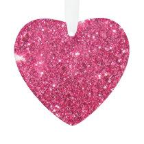 Glamour Hot Pink Glitter Ornament