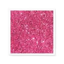 Glamour Hot Pink Glitter Paper Napkin