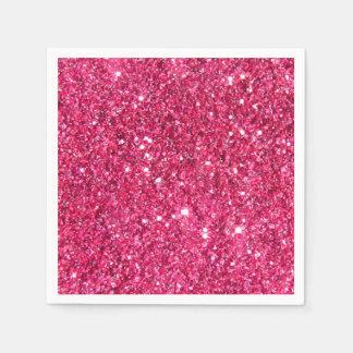 Glamour Hot Pink Glitter Paper Napkins